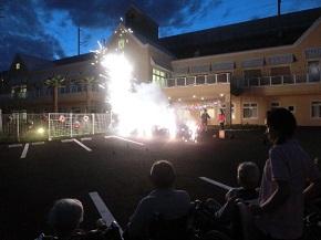 夏の夜の花火に歓声があがりました。